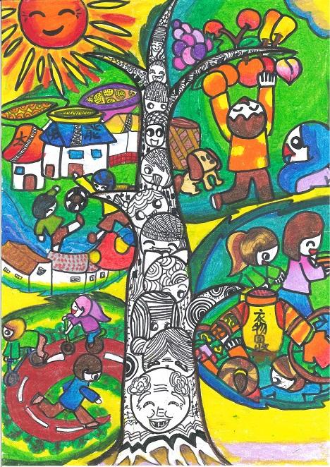 小学生获奖环保科幻画图片
