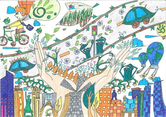 环保绘画作品