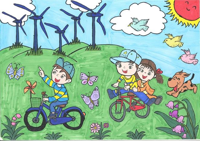 环保绘画作品图片